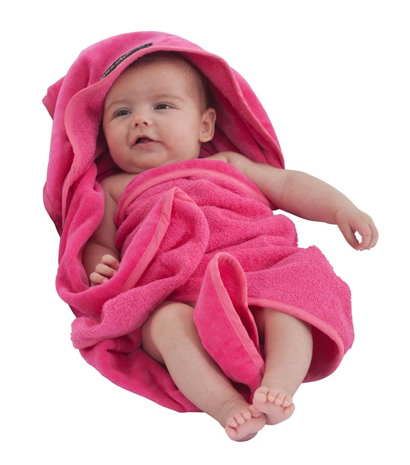 Mum 2 Mum Hooded Towel - Cerise image