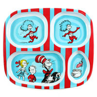 Dr Seuss: Melamine Divided Plate - Cat In The Hat