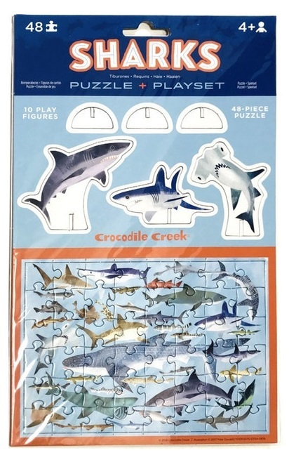 Crocodile Creek: Pop-Out Puzzle & Playset - Sharks image