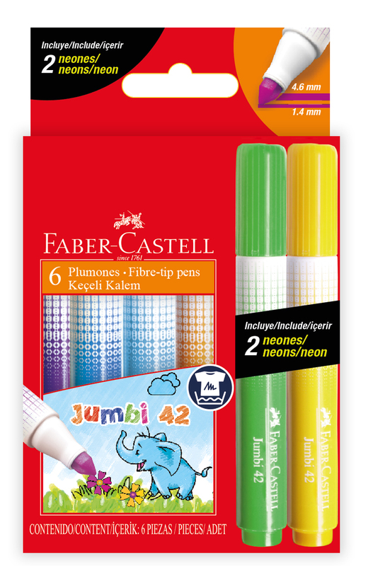 Faber-Castell: Fibre Tip Markers - Box of 6