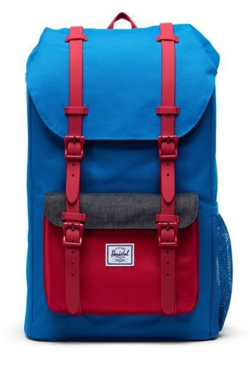 Herschel Supply Co: Herschel Little America Youth - Imperial Blue/Red/Black Crosshatch