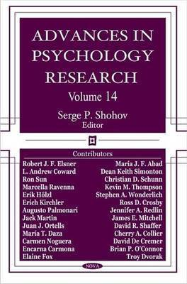 Advances in Psychology Research: Volume 14