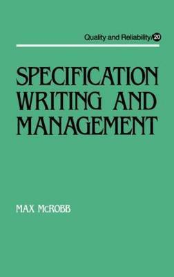 Specification Writing and Management by Max McRobb image