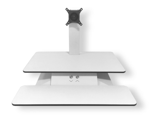 Officeport Electric Standesk - Single Monitor (White)