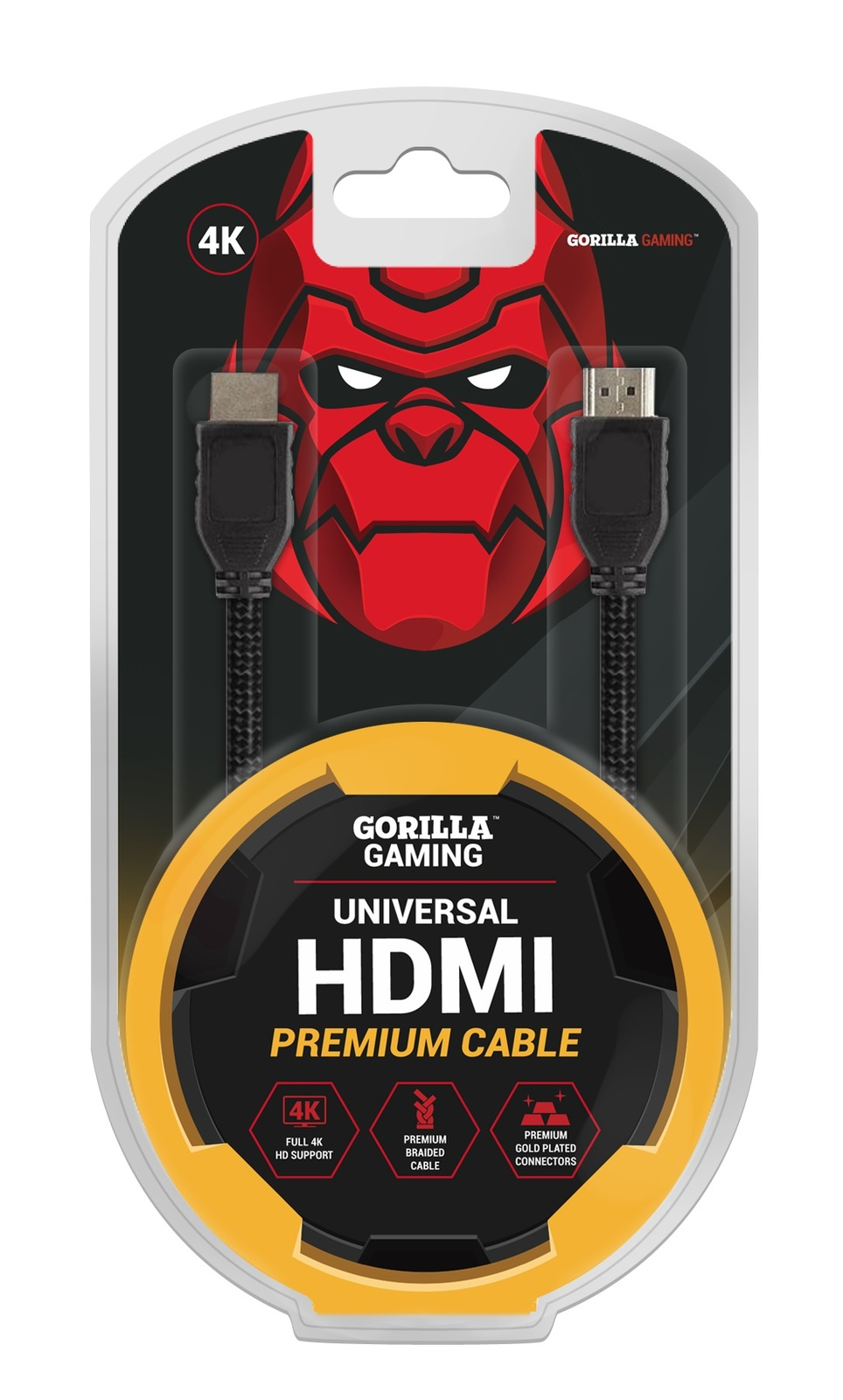 Gorilla Gaming Premium 4K HDMI Cable (v2.0 High Speed) for PS4 image