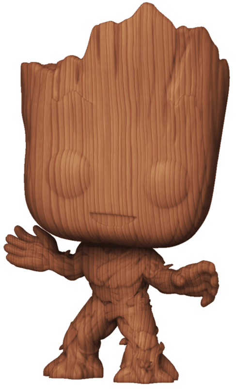 Marvel: Groot (Wood Deco Ver.) - Pop! Vinyl Figure