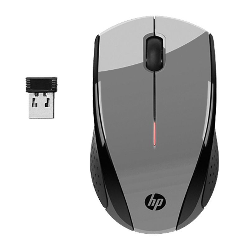 HP X3000 Wireless Optical Mouse (Silver) | at Mighty Ape NZ