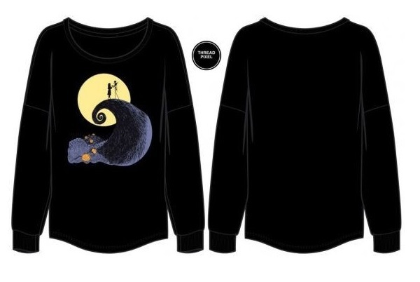 Nightmare Before Christmas - Slim-Fit Drop Shoulder Pullover (Small) image