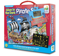 The Learning Journey: Glow in the Dark Puzzle - Pirate Ship