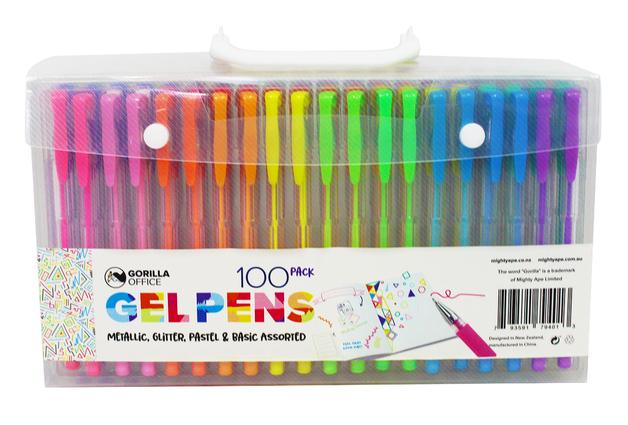 Gorilla Office: Gel Pens - 100 Pack