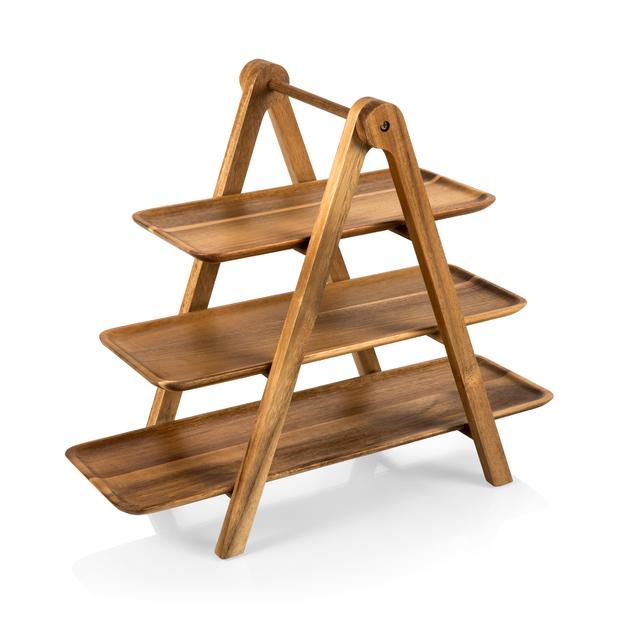 Picnic Time: Serving Ladder 3 Tiered Serving Station