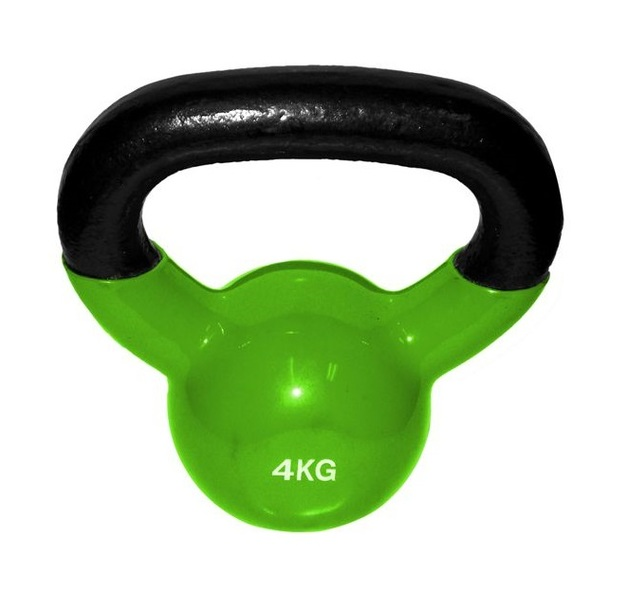 Team Sports: Vinyl Coated Kettlebell - 4Kg