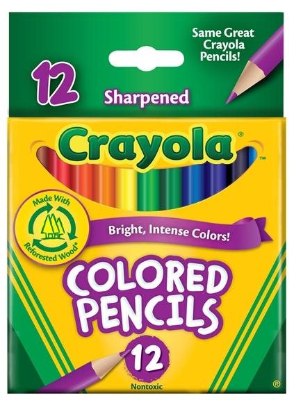Crayola: 12 Half Size Coloured Pencils image
