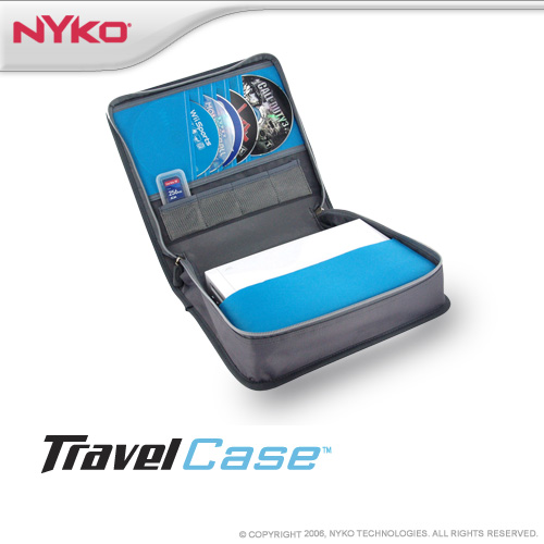 Nyko Travel Case - White & Light Blue for Nintendo Wii image