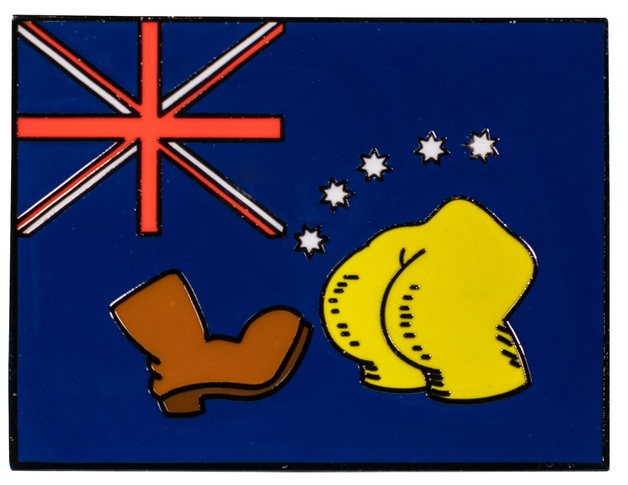 The Simpsons: Bart vs Australia Flag Enamel Pin