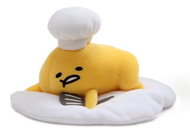 "Gund: Chef Gudetama (Lying Down) - 7.5"" Large Plush"