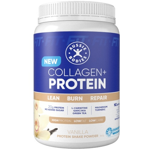 Aussie Bodies Collagen Protein Powder - Vanilla (360g)