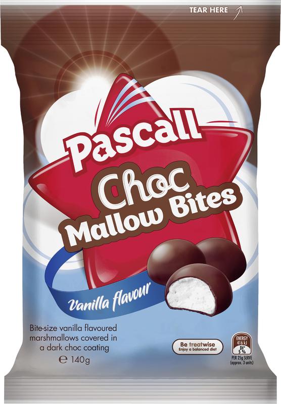 Pascall Choc Mallow Bites Vanilla 140g
