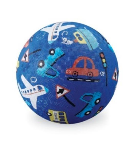 """Crocodile Creek: 7"""" Playground Ball - Cars, Trucks and Things that Go - Richard Scarry"""