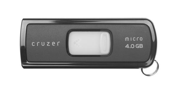 SanDisk Cruzer Micro USB Flash Drive 4096MB U3 image