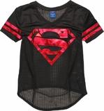 DC Comics - Superman Mesh V-Neck T-Shirt (XXL)