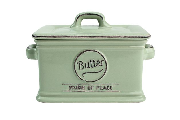 T&G: Pride of Place Butter Dish - Green