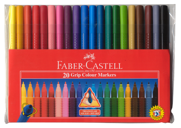 Faber-Castell: Grip Colour Marker (Wallet of 20)
