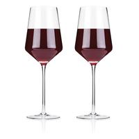 Raye Crystal Bordeaux Glasses (Set of 2)