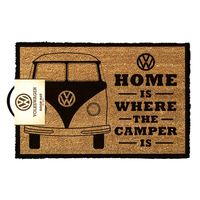 VW - Home Is Where The Camper Is Door Mat