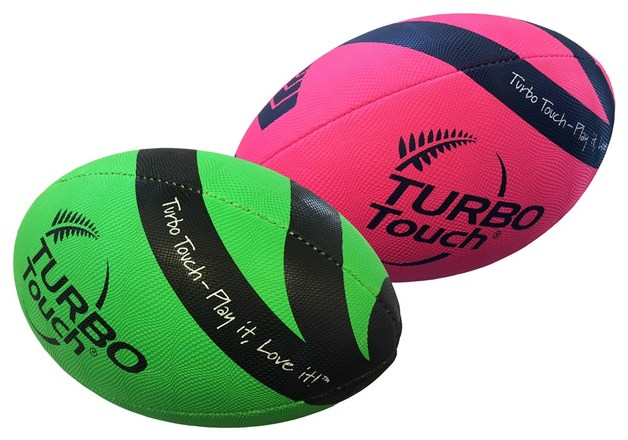 Silver Fern Turbo Touch Rugby Ball - Pink (Size 3.5)