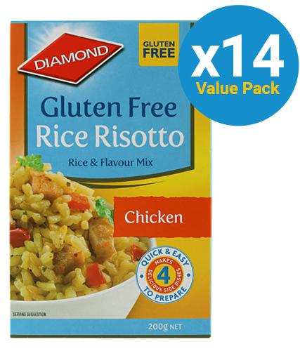 Diamond: Rice Risotto Gluten Free Chicken 200g (14 Pack)
