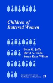 Children of Battered Women by Peter G Jaffe image