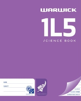 Warwick 1L5 36lf Science Exercise Book