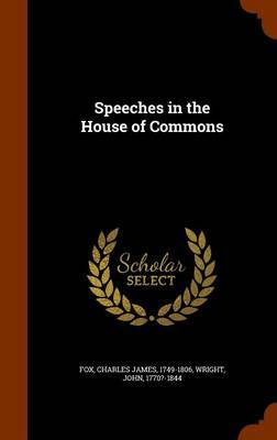 Speeches in the House of Commons by Charles James Fox image