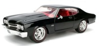 Jada: 1/24 1970 Chevy Chevelle SS (Hard Top Wa-1) - Diecast Model (Black)
