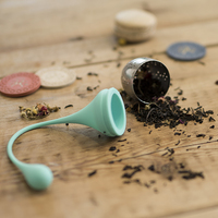 Pinky Up: Weighted Tea Infuser & Base - Mint image