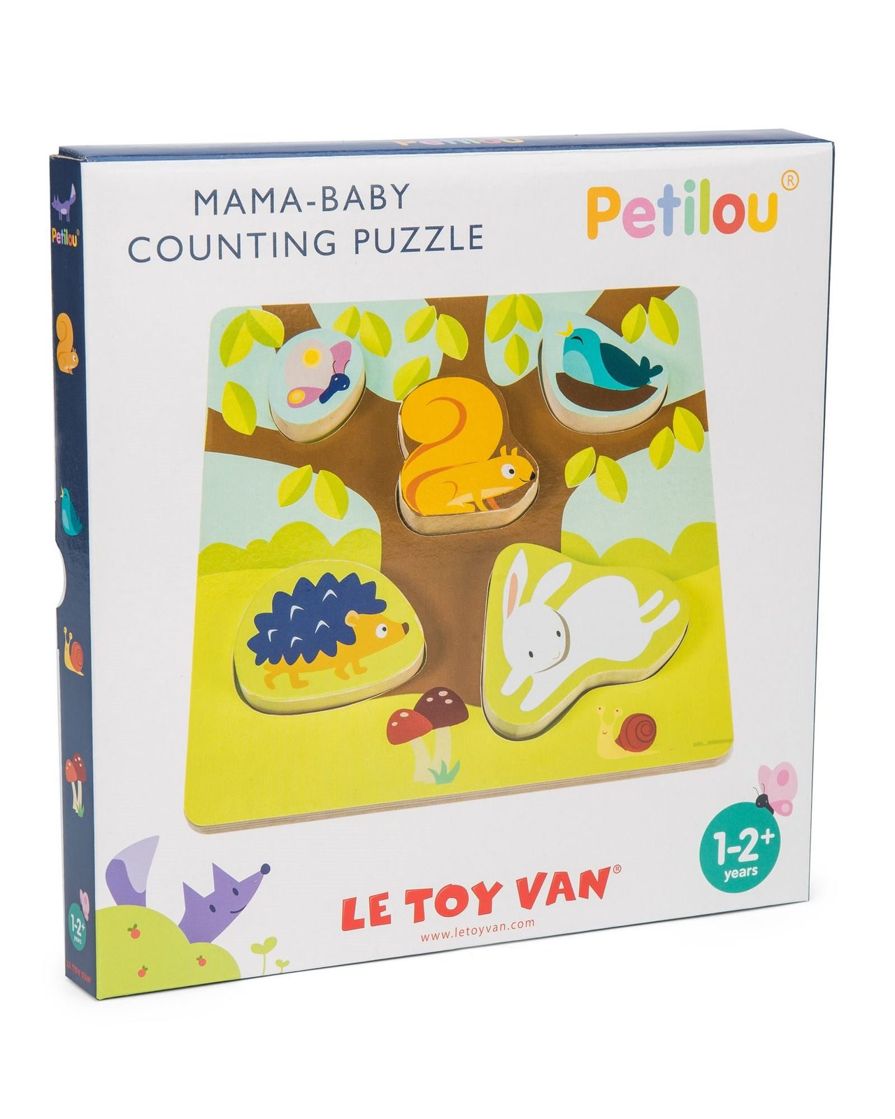 Le Toy Van: Petilou - Mama-Baby Counting Puzzle image