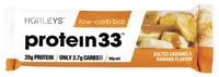 Horleys Protein 33 Low Carb Bars - Salted Caramel & Banana (12 x 60g Pack)