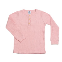 Cheeky Chimp: Long Sleeved Rib Top - Dusty Pink (Size 7)