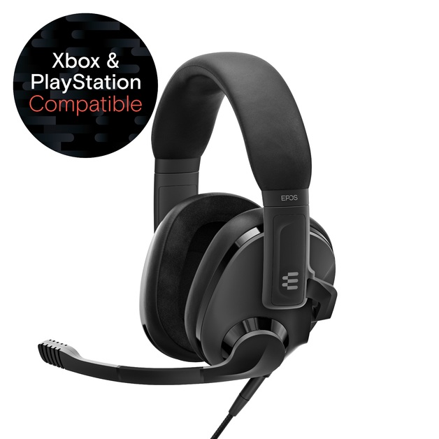 EPOS H3 Gaming Headset - Onyx Black for Switch, PC, PS5, PS4, Xbox Series X, Xbox One
