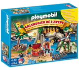 Playmobil Advent Calendar Playset - Pirates Treasure Cove (Age 4+)