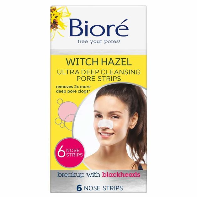 Biore: Witch Hazel Ultra Deep Cleansing Pore Strips (6 Pack)