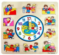 Fun Factory - Children Puzzle With Clock
