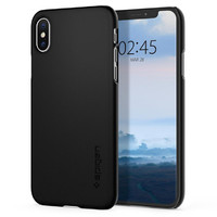 Spigen: Thin Fit Case for iPhone XS - Black
