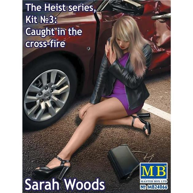 1/24 The Heist Series, Kit No.3 Caught in the Cross-Fire. Sarah Woods - Model Kit