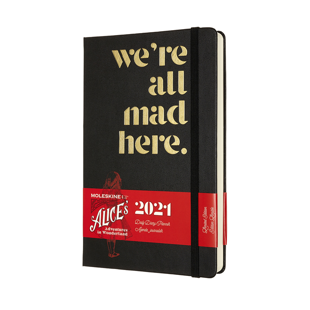 Moleskine: 2021 Diary Large 12 Month Daily - Alice in Wonderland