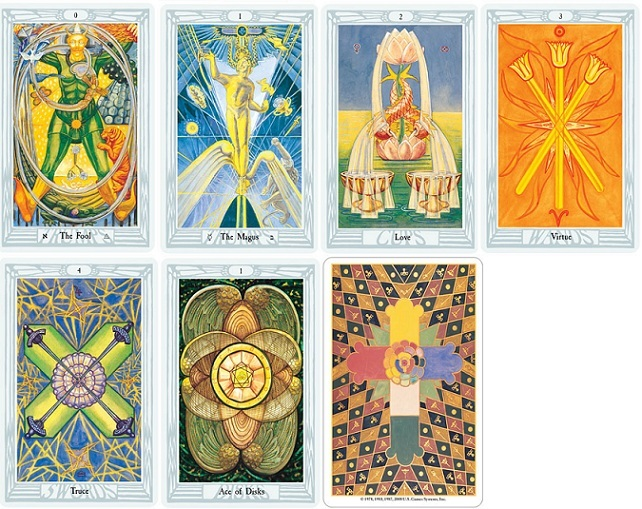 Thoth Tarot Deck (Aleister Crowley) Images at Mighty Ape NZ