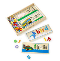 Melissa & Doug: Wooden See and Spell Puzzle