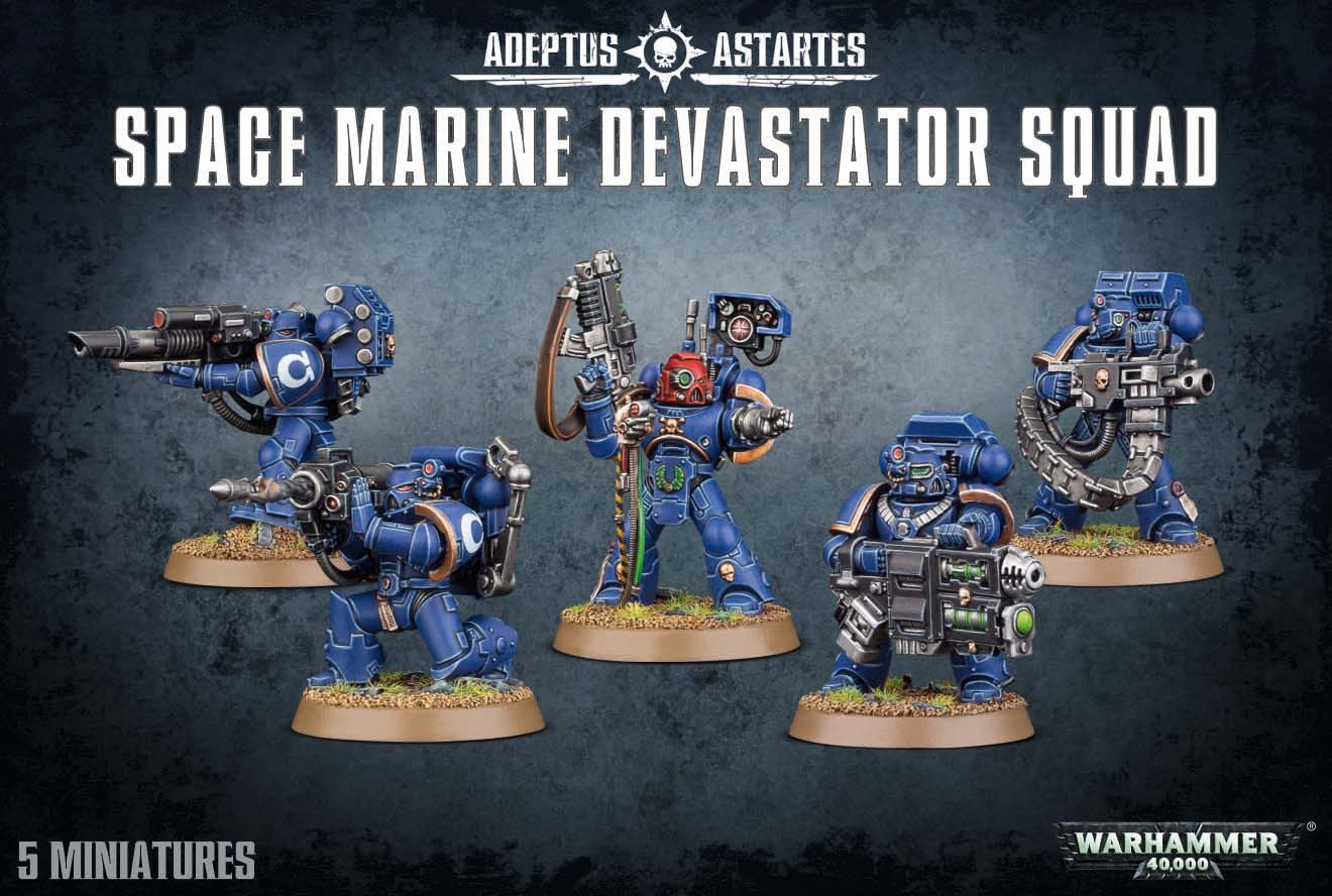 Warhammer 40,000 Space Marine Devastator Squad image