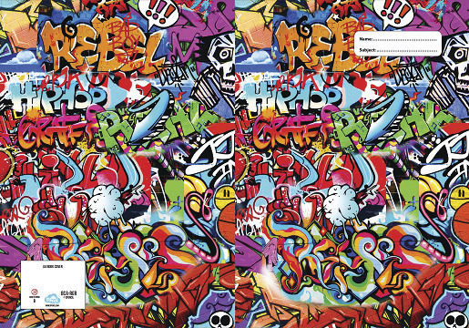 School Book Cover Stickers : Buy spencil a book cover rebel graffiti at mighty ape